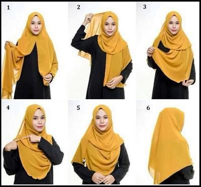 5 Tutorial Hijab Syar I Modern Yang Simpel Dan Anggun